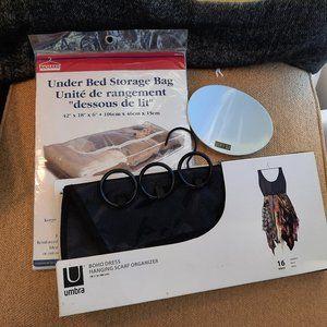 Umbra Organization Bundle: Scarf Hanger, Soap Dish